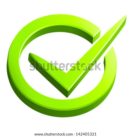 check mark - vector illustration - stock vector