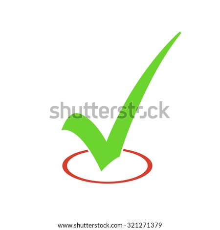 Check Mark Vector Sign - stock vector