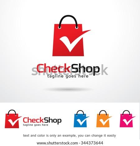 Check Shop Logo Template Design Vector Stock Vector 344373644 ...