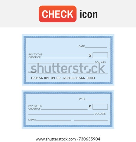 Check template bank blank check icon stock vector 730635904 check template bank blank check icon vector pronofoot35fo Gallery