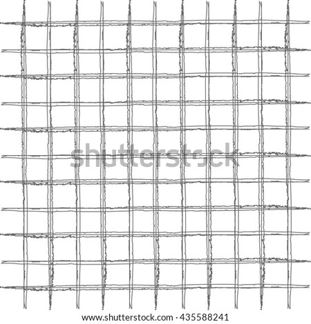 Checked,square,plaid pattern.Vertical and horizontal brush stripes.pattern design with hand drawn doodle stripes,checkered grid pattern,square shaped simple lines,perfect for web and print purposes - stock vector