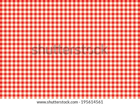 Checked Table Cloth Pattern. Vector - stock vector