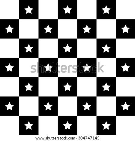 Checker board. Star Checker board background. Squares. Vector illustration. Pattern Background. Wallpaper - stock vector