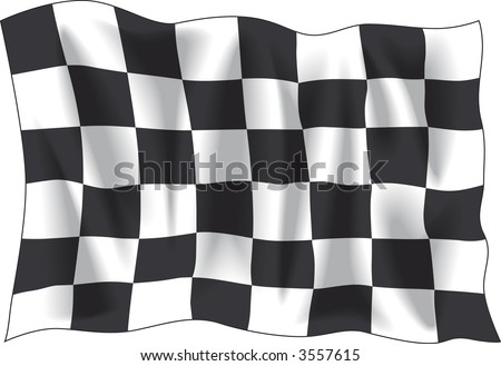 checker flag isolated on white background