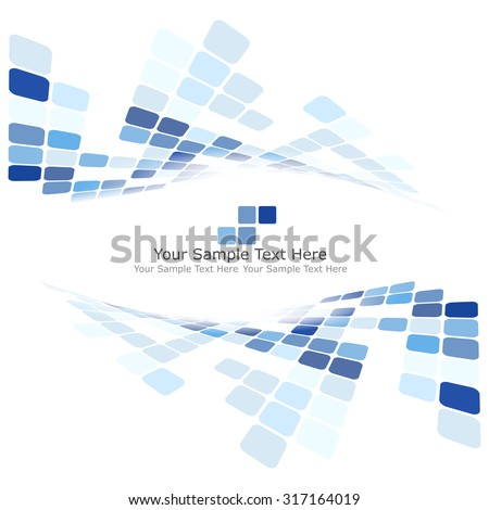 Checkered Background With Text Space. Ideal Balanced Colors in Blue Tone. Suitable For Creating Business, Technological and Other Design. Vector Illustration. - stock vector