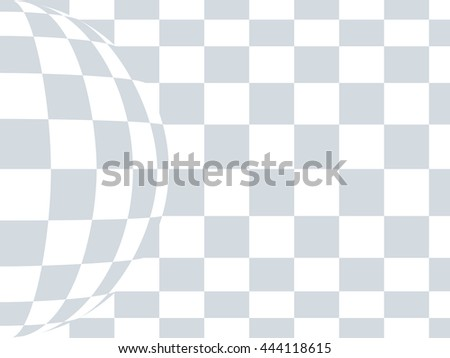 Checkered black and white abstract wavy background