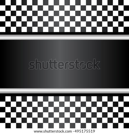 Checkered design for sport racing background vector illustration.