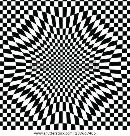 checkered distorted vector background - stock vector
