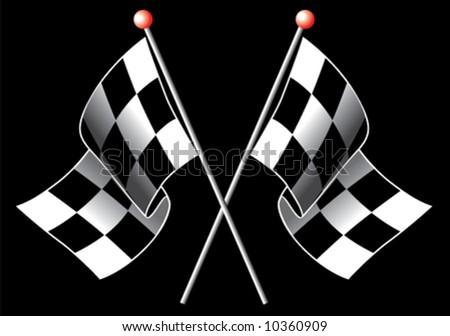 Checkered flag - stock vector