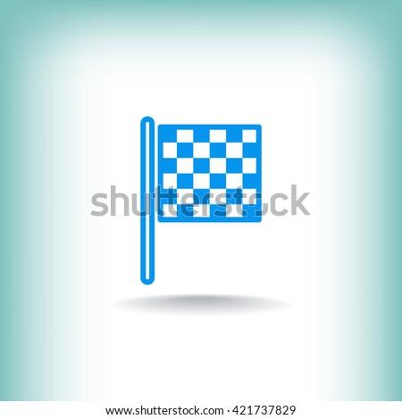 Checkered Flag Icon. Checkered Flag Icon Vector. Checkered Flag Icon Art. Checkered Flag Icon eps. Checkered Flag Icon Image. Checkered Flag Icon logo. Checkered Flag Icon Sign - stock vector
