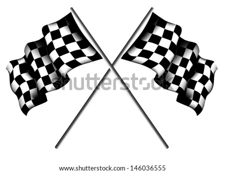 Checkered Flags - stock vector