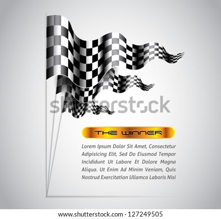 checkered flags abstract background - vector - stock vector