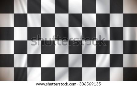 Checkered Race Flag - vector illustration - stock vector