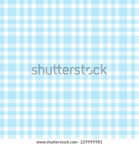 checkered seamless table cloths pattern light blue colored - stock vector