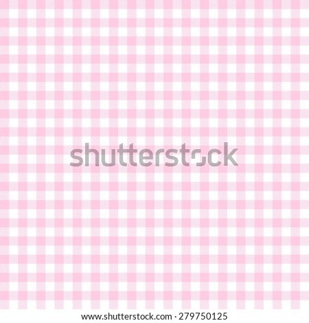 checkered seamless table cloths pattern pink colored - stock vector