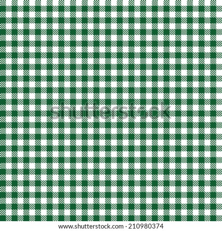 Checkered Tablecloth Pattern DARK GREEN   Endlessly