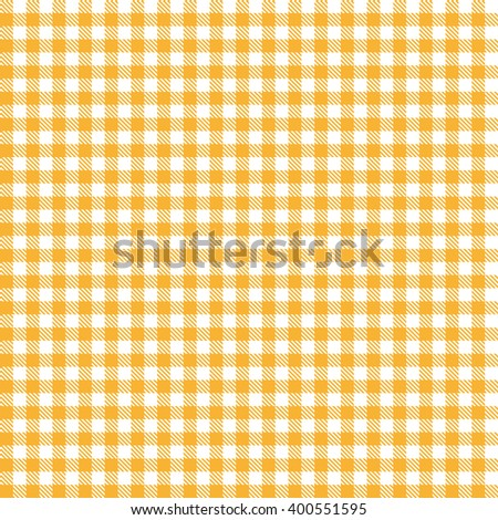 Captivating Checkered Tablecloth Pattern ORANGE  Endlessly