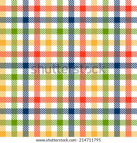 Checkered tablecloths pattern colorful - endless - stock vector