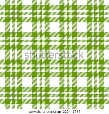 Checkered tablecloths pattern green - endless - stock vector