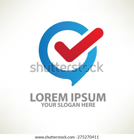 Checking logo template design on clean background,vector - stock vector