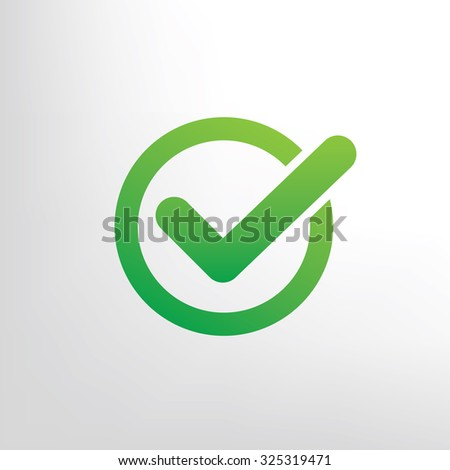 Checking mark design on clean background, vector - stock vector