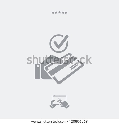 Checking method of payment - Credit card - stock vector