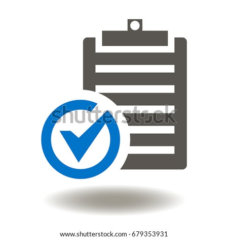 Checklist Check Mark Vector Icon Clipboard Stockvector 679353931