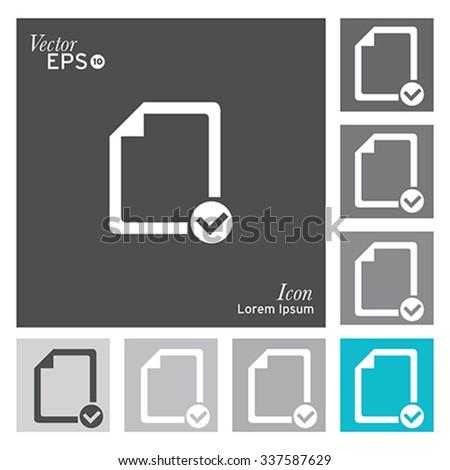 Checklist document icon - vector, illustration. - stock vector