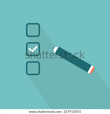 Checklist. Flat style. Vector illustration - stock vector