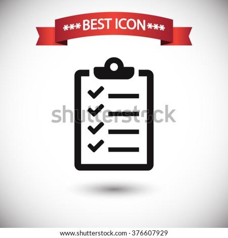Checklist icon vector - stock vector
