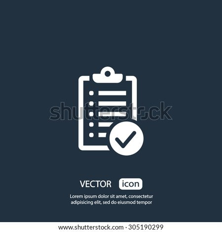Checklist icon vector eps 10 and jpg. Check list icon on background - stock vector