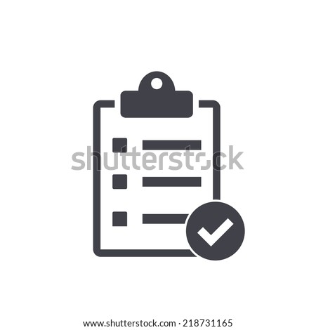 checklist icon , vector illustration - stock vector