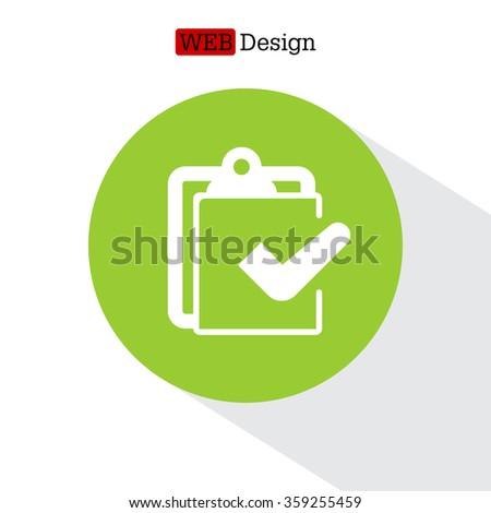 checklist icon, vector illustration - stock vector