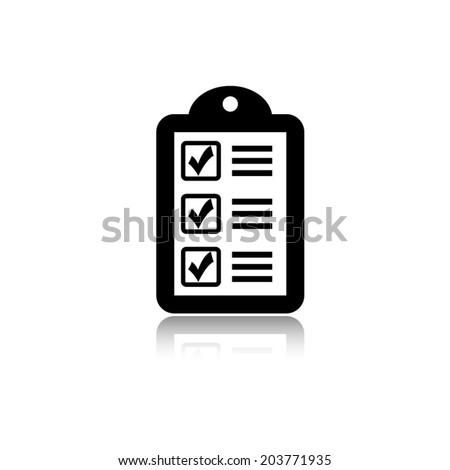 checklist vector icon with shadow - stock vector