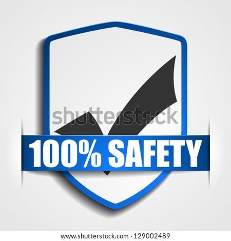 Checkmark Shield - stock vector