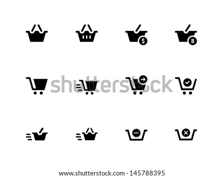 Checkout Icons on white background. Vector illustration. - stock vector