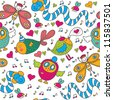 Cheerful children's seamless pattern. Seamless pattern can be used for wallpaper, pattern fills, web page background, postcards. - stock photo