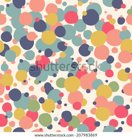 Cheerful pattern with confetti. Seamless background for your design. - stock vector
