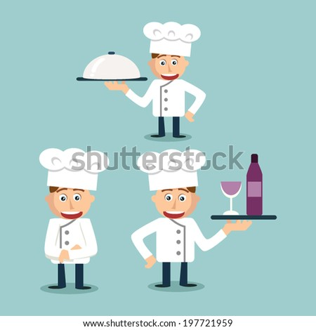 Cheerful Young chef - Illustration - stock vector