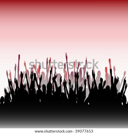 Cheering Audience - stock vector