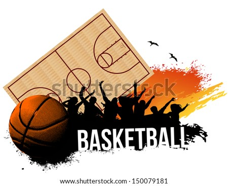 Cheering Crowd in Basketball game