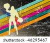 cheerleader poster - stock vector