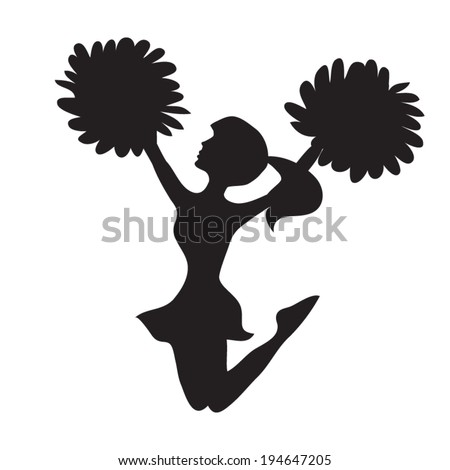 cheerleading vector cheerleader silhouette stock images royalty free images 4051