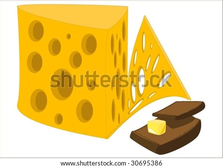 cheese, bread and butter