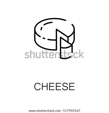 Cheese Flat Icon Single High Quality Stock Vector 517903567