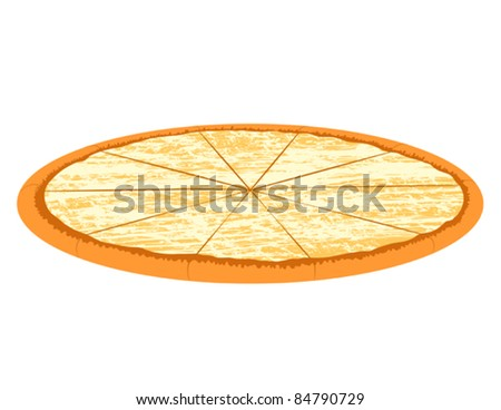Cheese Pizza - Vector Illustration. (high resolution JPEG also available). - stock vector