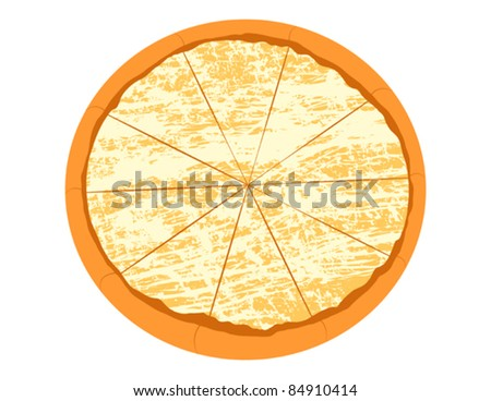 Cheese Pizza Vector Illustration. (high resolution JPEG also available). - stock vector