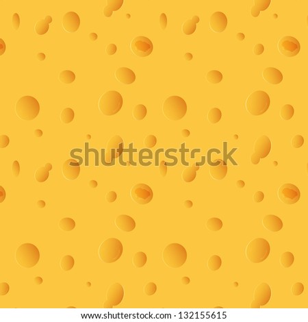 cheese seamless texture - stock vector