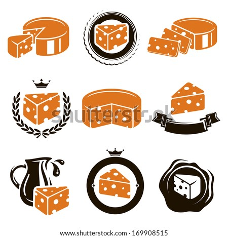 Cheese set. Vector  - stock vector