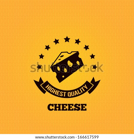 cheese vintage label design background - stock vector